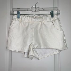 White Leather Shorts
